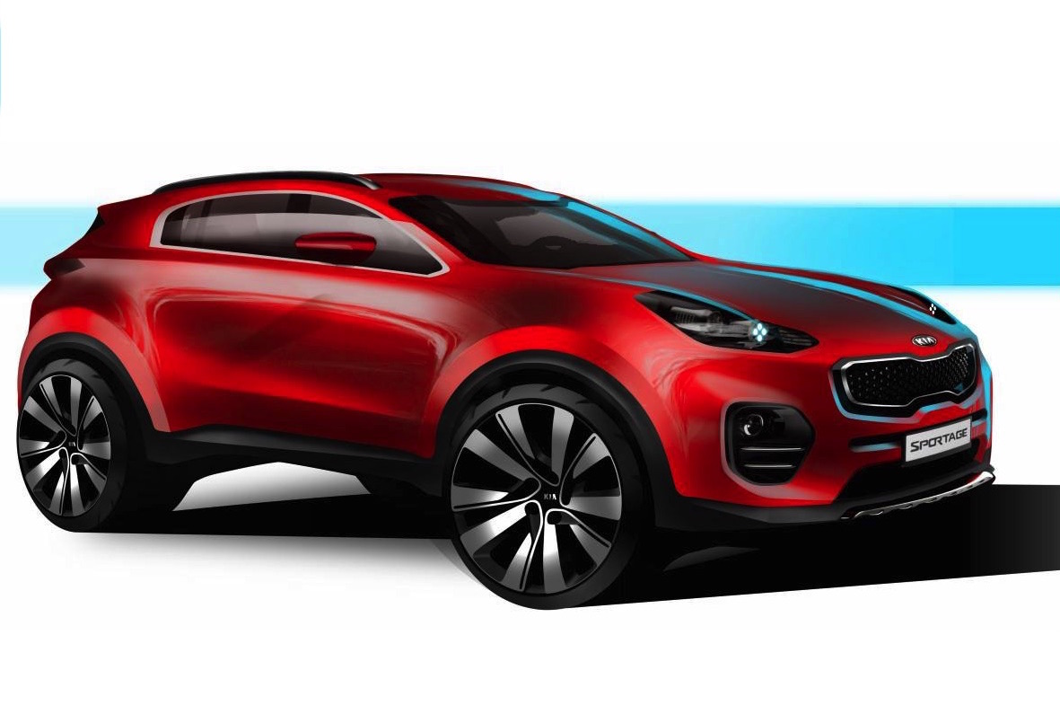 2016 kia sportage previewed will debut at frankfurt show performancedrive. Black Bedroom Furniture Sets. Home Design Ideas