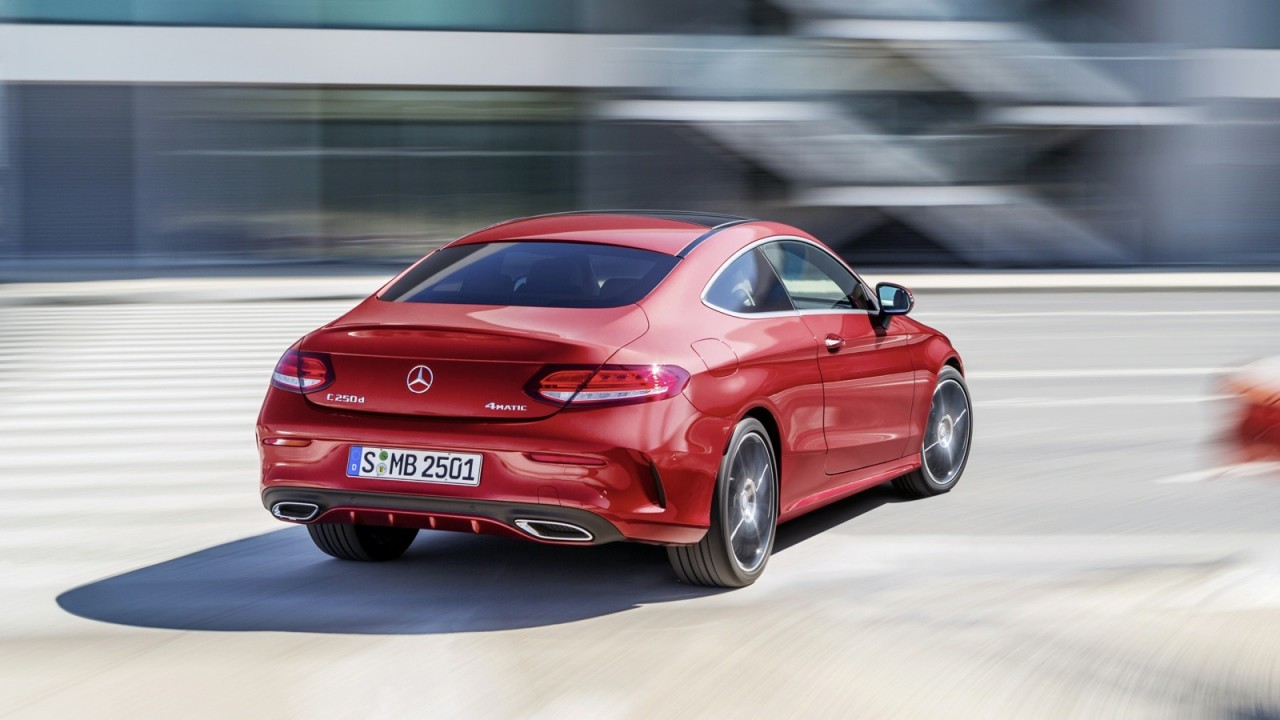 2016 mercedes benz c class coupe revealed lighter larger for Mercedes benz c class sedan