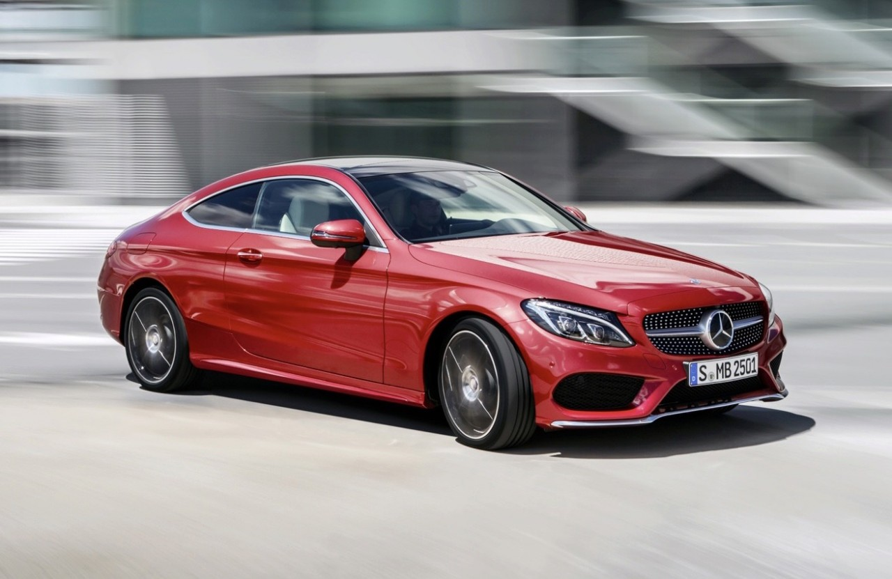 2016 mercedes benz c class coupe revealed lighter larger performancedrive. Black Bedroom Furniture Sets. Home Design Ideas
