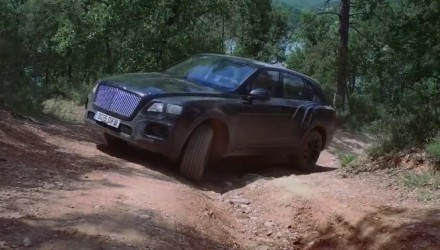 Bentley Bentayga previewed, shows off off-road ability (video)