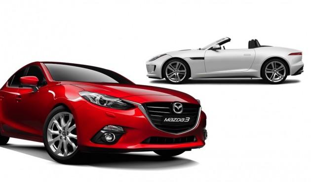 Jaguar and Mazda3
