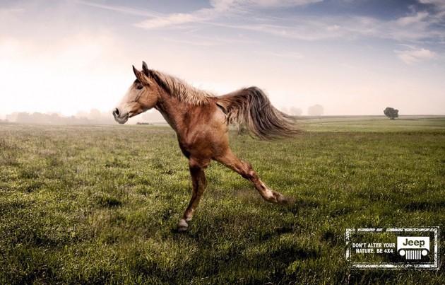 Jeep two-legged horse ad