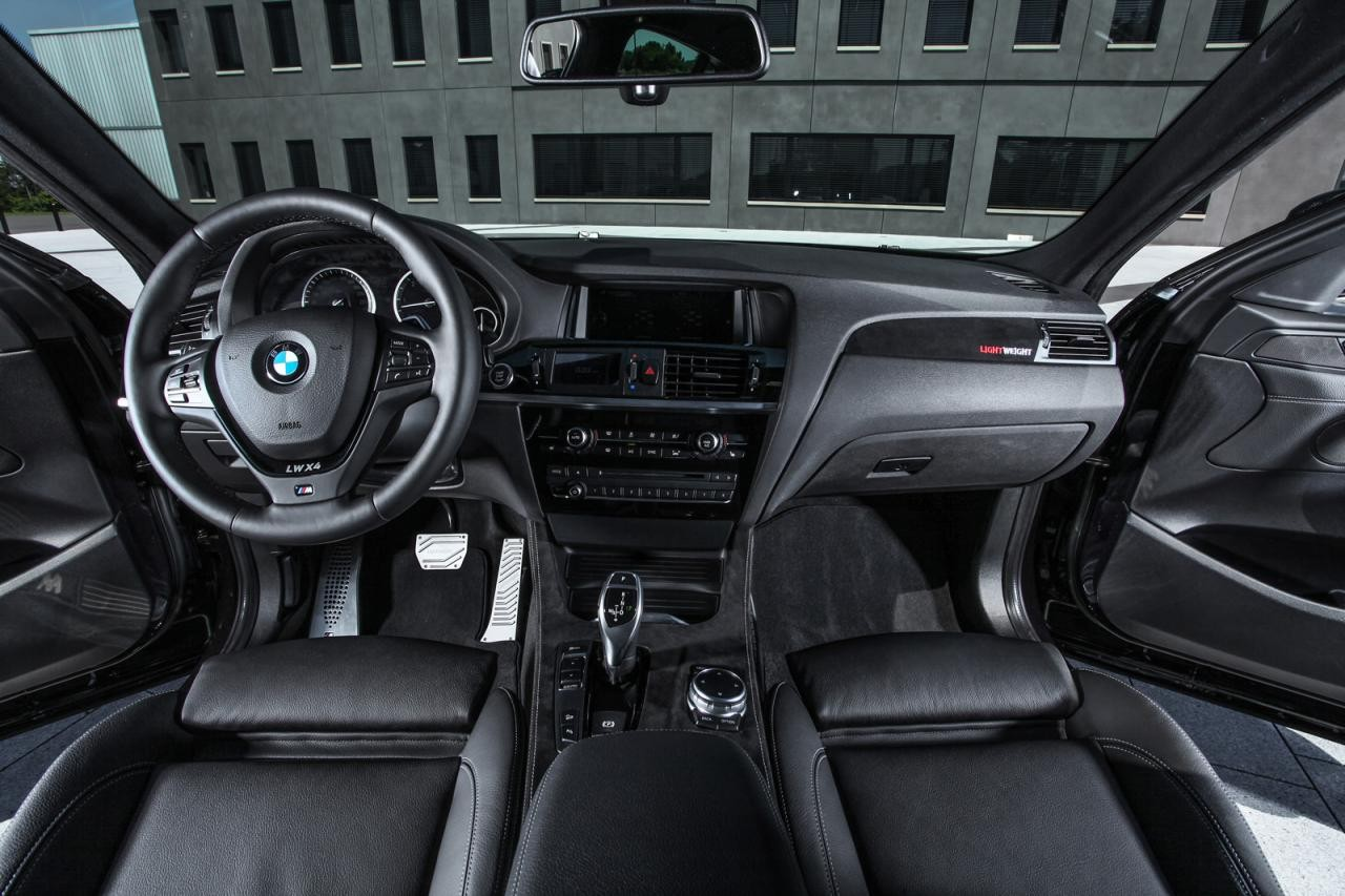 Bmw x4 xdrive35d tuning kit announced by lightweight for Bmw x4 interior