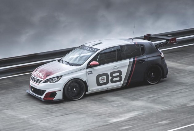 Peugeot 308 Racing Cup car-driving