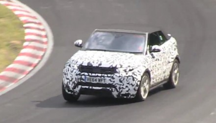 Range Rover Evoque cabrio prototype spotted at Nurburbring (video)