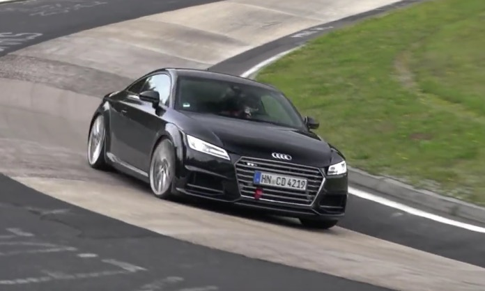 2016 audi tt rs prototype spotted at nurburgring video performancedrive. Black Bedroom Furniture Sets. Home Design Ideas