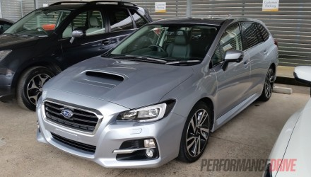 2016 Subaru Levorg spotted in Australia