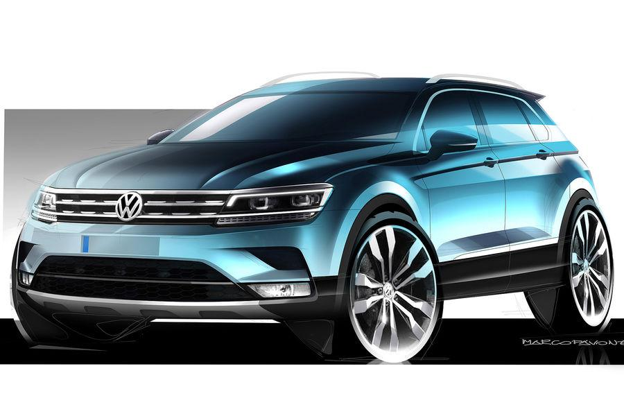 2016 volkswagen tiguan previewed with official sketches performancedrive. Black Bedroom Furniture Sets. Home Design Ideas
