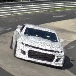 2017 Chevrolet Camaro ZL1 prototype spotted at Nurburgring (video)