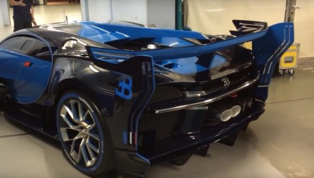 Video: Bugatti Vision Gran Turismo starts its engine