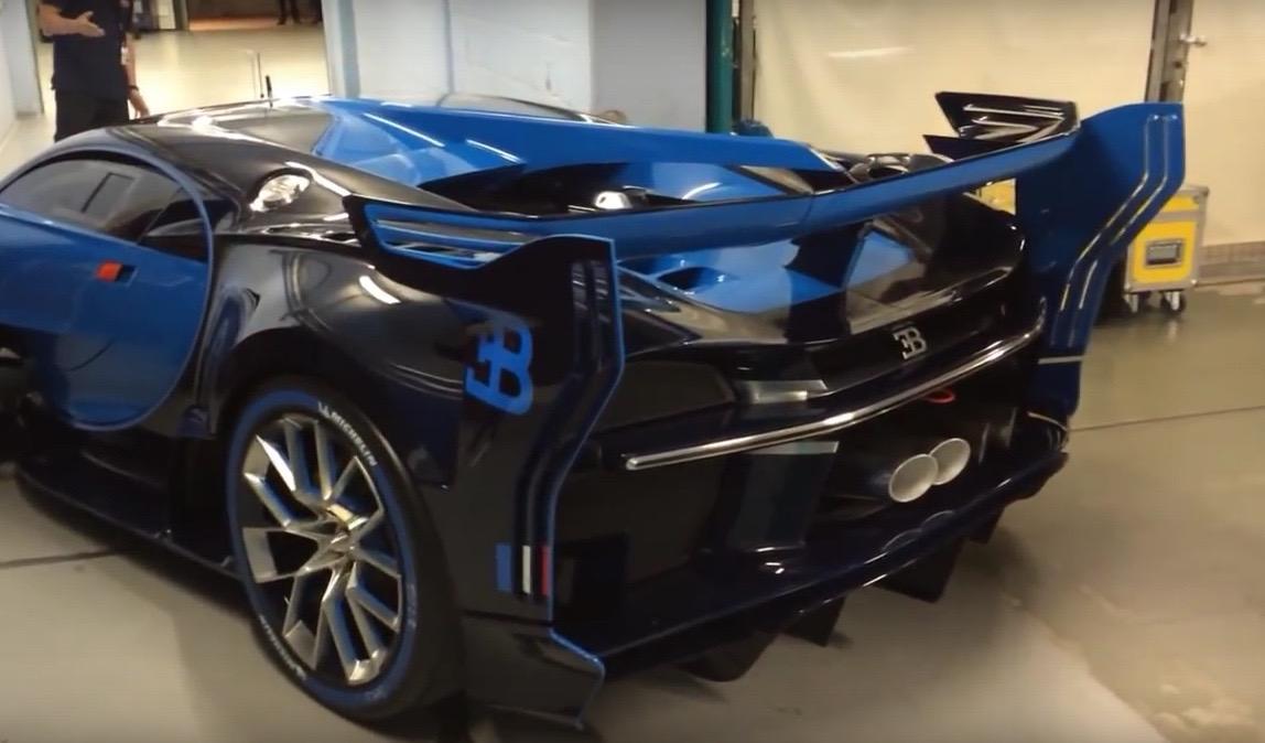 video bugatti vision gran turismo starts its engine performancedrive. Black Bedroom Furniture Sets. Home Design Ideas
