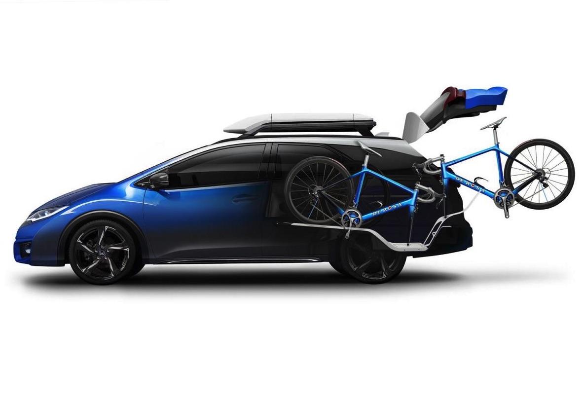 honda civic tourer active life concept gets special bike carrier performancedrive. Black Bedroom Furniture Sets. Home Design Ideas