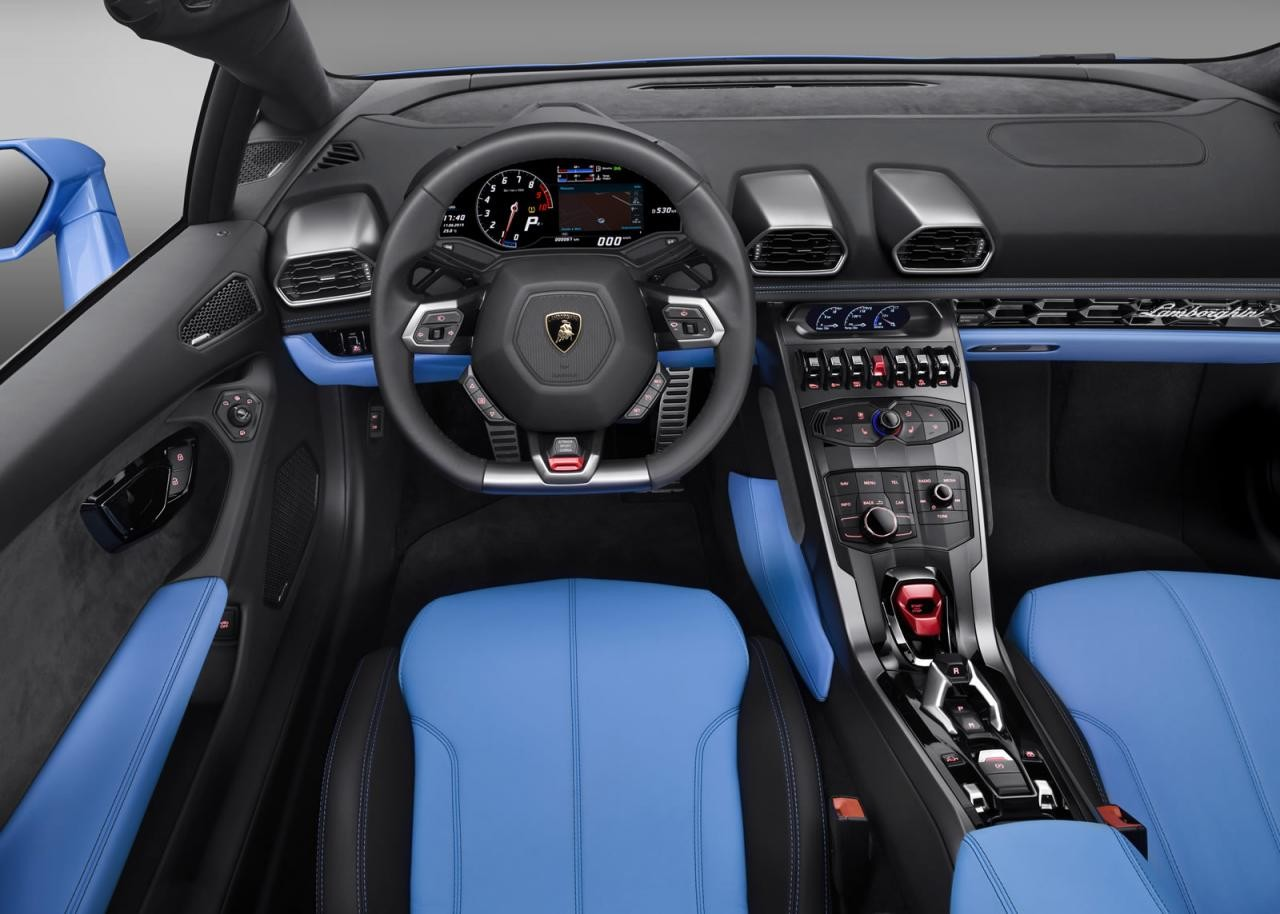 Lamborghini huracan spyder revealed on sale in australia for Interior lamborghini