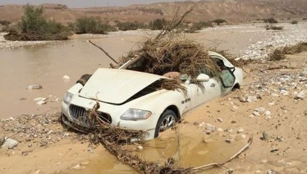 Maserati Quattroporte found, flood-wrecked & abandoned
