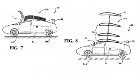 Toyota considering flying car? Patents show stackable wing system