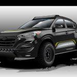 Hyundai & Rockstar Performance working on tough Tucson for SEMA