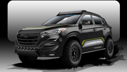 Hyundai & Rockstar Performance working on tough Tucson for SEMA