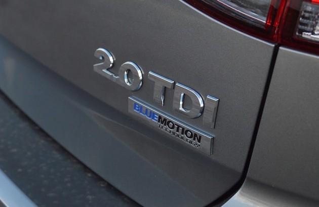 2015 Volkswagen Golf TDI badge