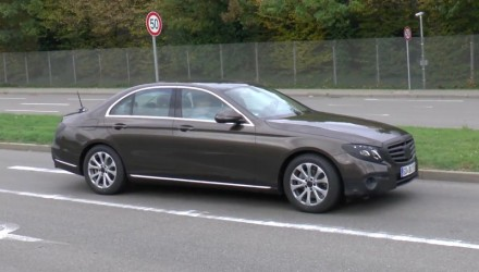 2016 Mercedes-Benz E-Class W213 mule spotted, most revealing yet
