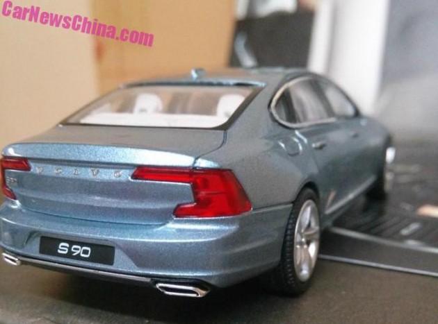 2016 Volvo S90 scale model-rear