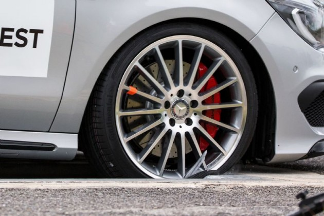 Fake wheels vs genuine-pothole