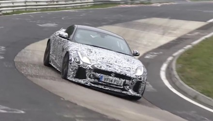Jaguar F-Type SVR spotted again at Nurburgring (video)