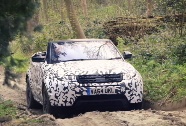 Range Rover Evoque Convetible prototype