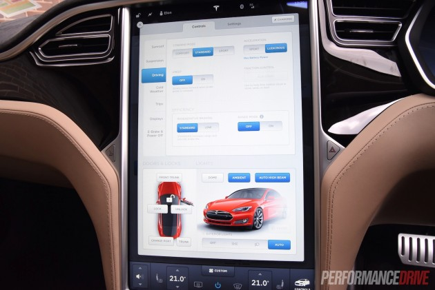 2015 Tesla Model S P90D-car settings