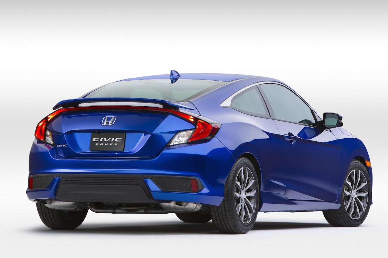 2016 honda civic coupe unveiled at la auto show performancedrive. Black Bedroom Furniture Sets. Home Design Ideas