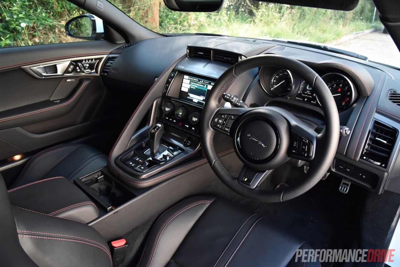 2016 jaguar f type r awd review video performancedrive. Black Bedroom Furniture Sets. Home Design Ideas