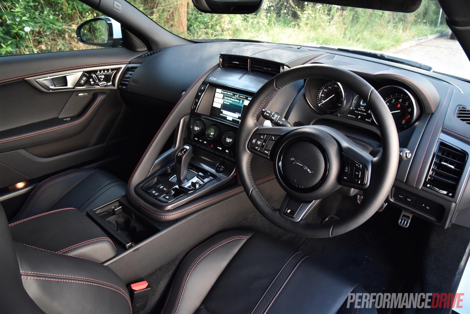2016 jaguar f type r awd review video performancedrive - Jaguar f type r coupe interior ...