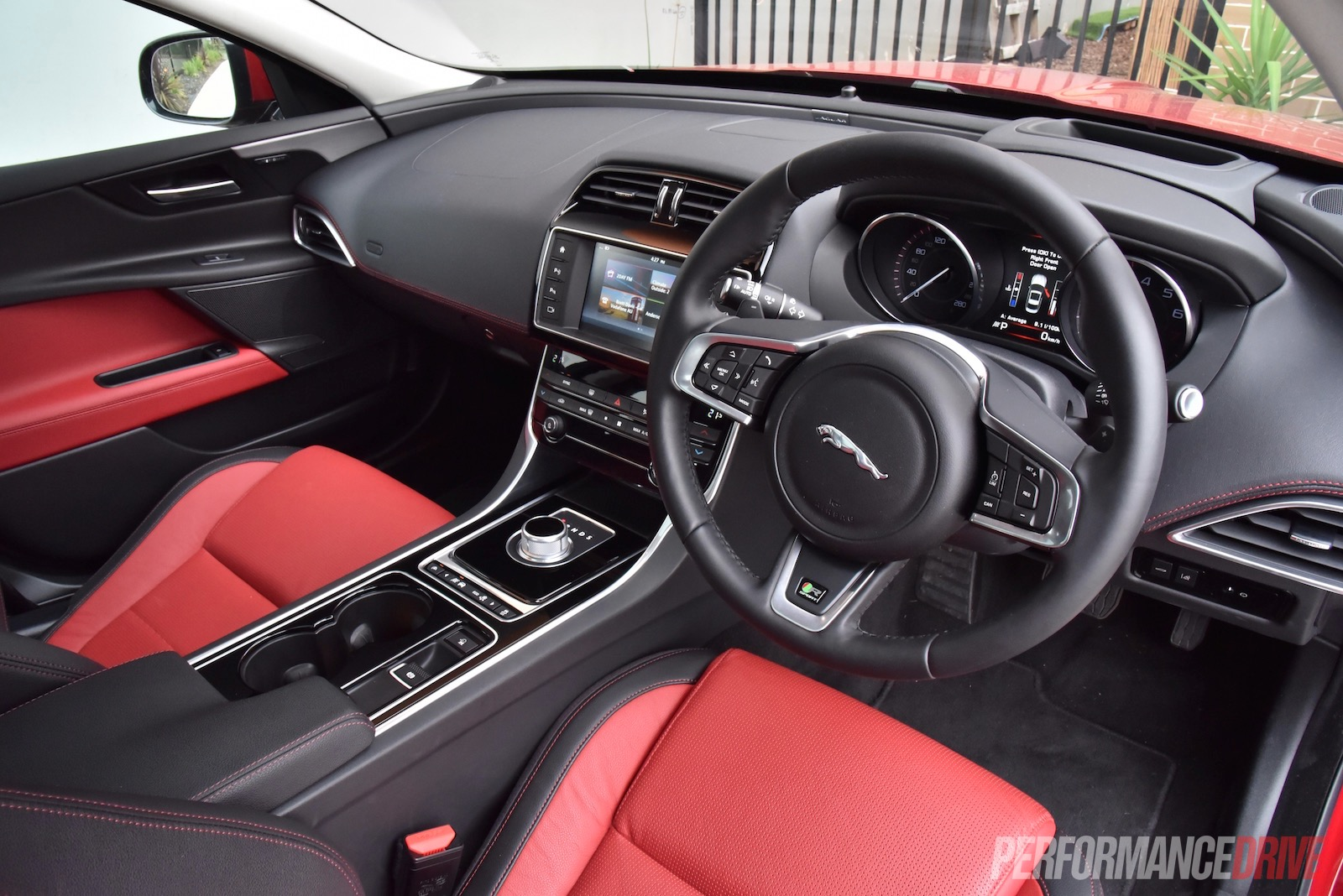 2016 jaguar xe r sport 20t review video performancedrive. Black Bedroom Furniture Sets. Home Design Ideas