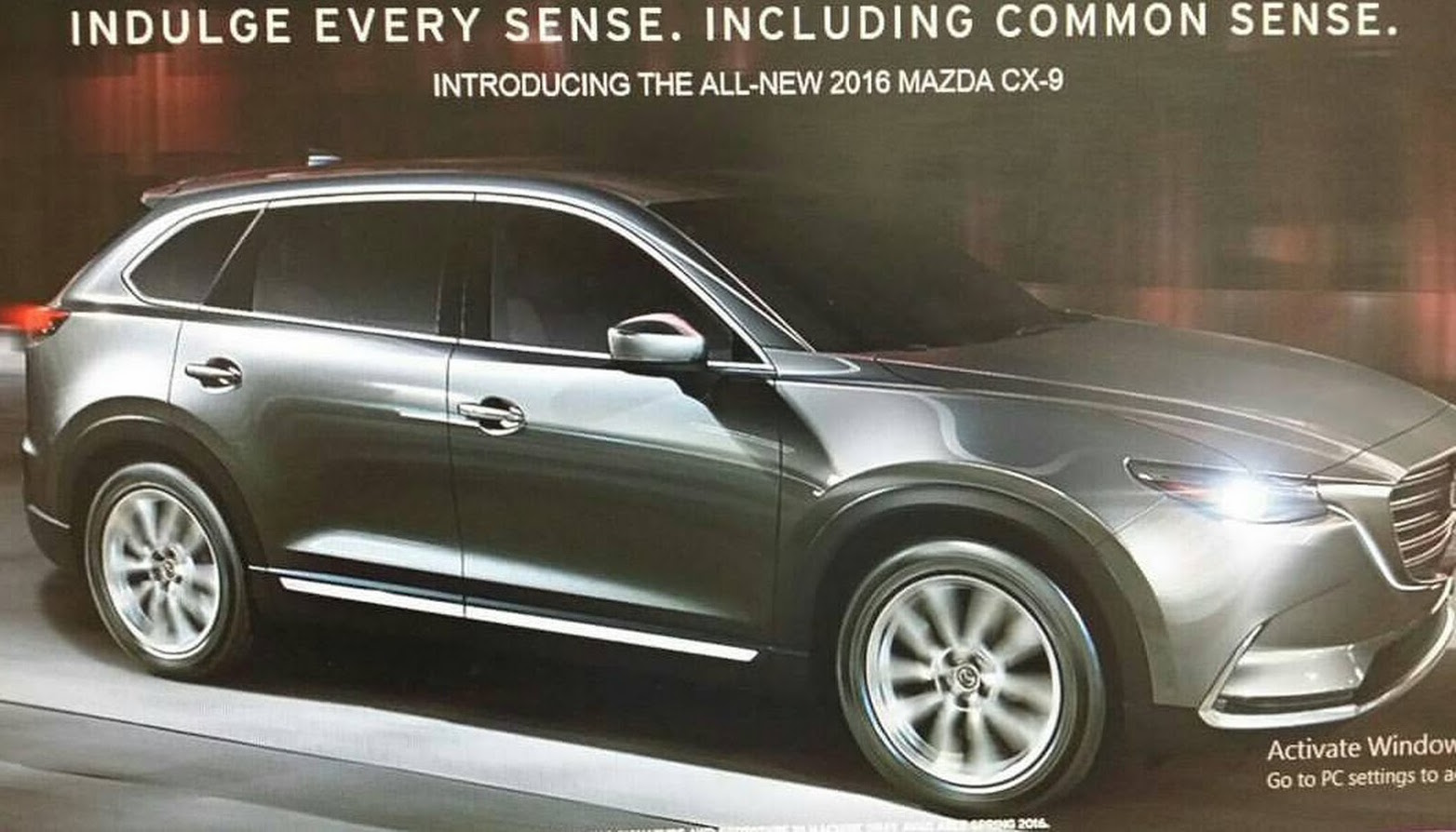 2016 mazda cx 9 revealed in leaked e brochure performancedrive. Black Bedroom Furniture Sets. Home Design Ideas
