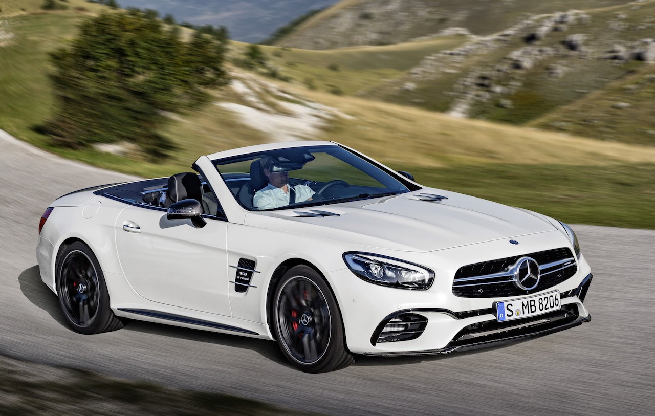 2016 mercedes benz sl leaked online before la debut for Mercede benz amg