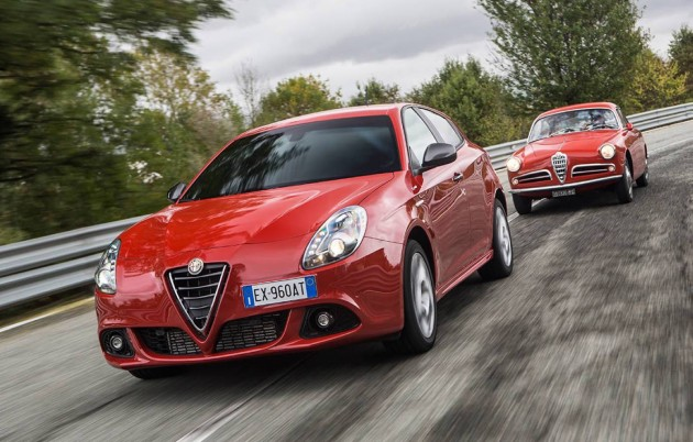 Alfa Romeo Giulietta Sprint-old and new