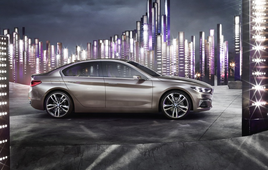 bmw compact sedan concept revealed previews 1 series sedan performancedrive. Black Bedroom Furniture Sets. Home Design Ideas