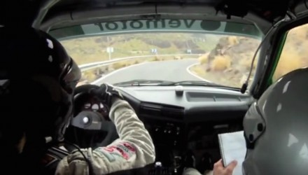 Video: BMW E30 M3 being driven to the limit in tarmac rally