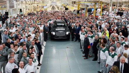 Bentley Bentayga production officially starts, first example rolls out