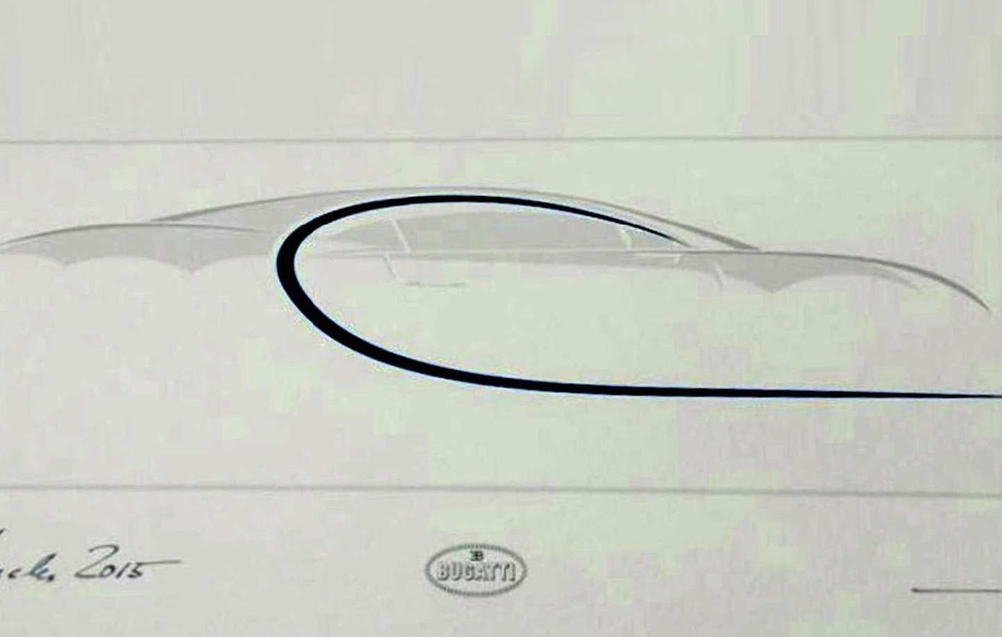 Bugatti Chiron Previewed To Potential Buyers With Sketch