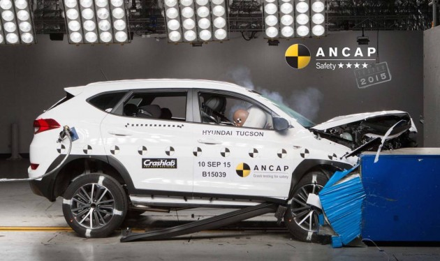 Hyundai Tucson ANCAP crash test