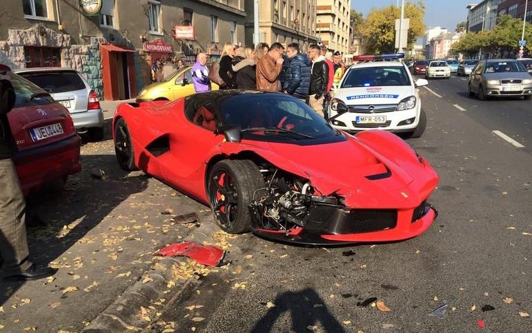 laferrari crash in hungary, hits 3 parked cars | performancedrive