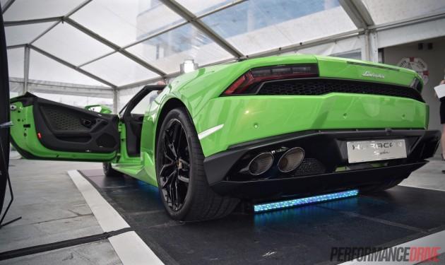 Lamborghini Huracan Spyder-exhaust