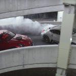 Video: 1000hp Nissan 370Z drift cars celebrate Black Friday at shopping mall