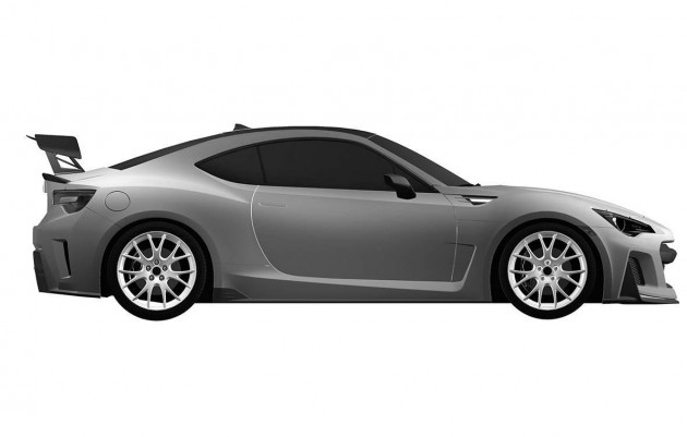 Subaru BRZ STI design patent-side