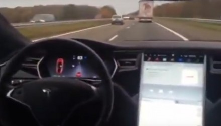 "Back seat driving with Tesla Auto Pilot, Elon Musk says ""not good"""