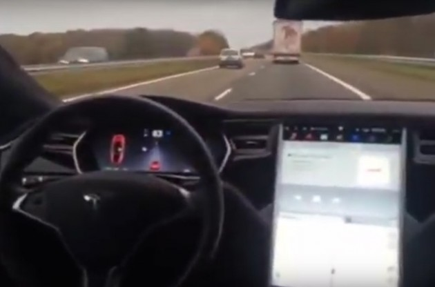 Tesla Auto Pilot back seat