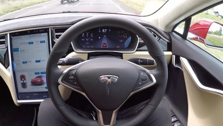 Video: Tesla Model S P90D Auto Pilot demo (POV)