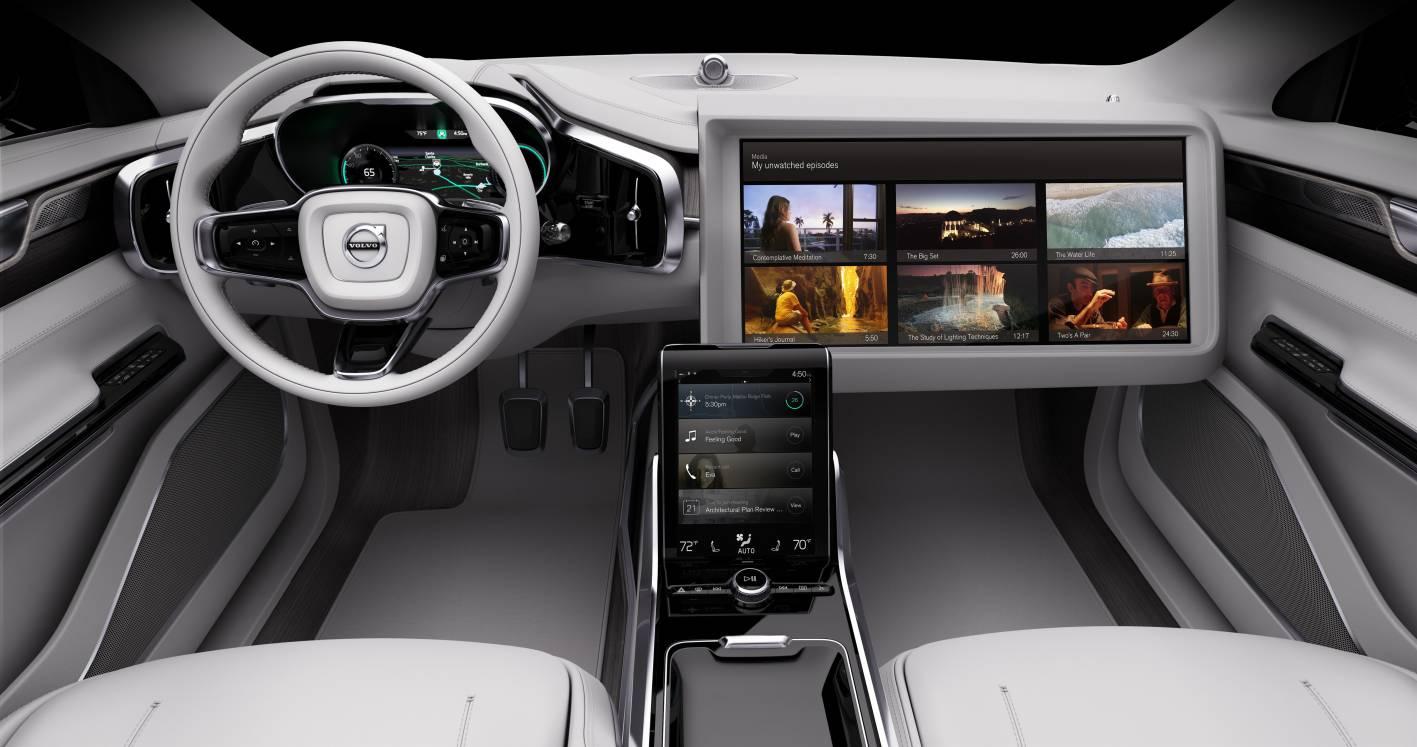 Car interior entertainment - Volvo Concept 26 Entertainment Screen