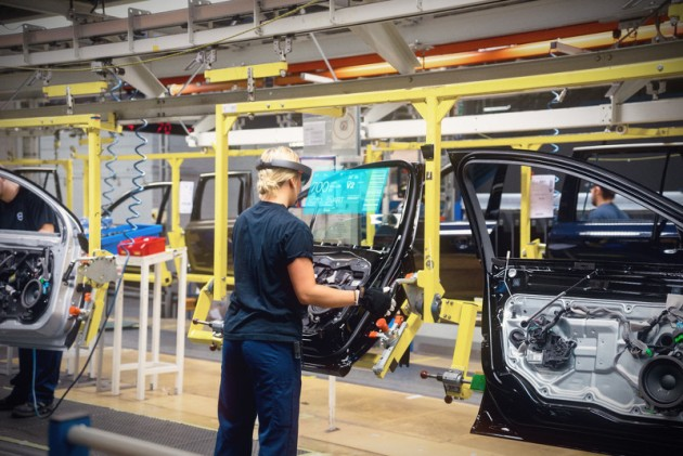 Volvo and Microsoft HoloLens-production