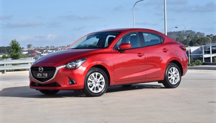 2015 Mazda2 Maxx sedan review (video)